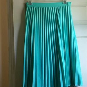 NY & Co, turquoise, pleated, skirt.
